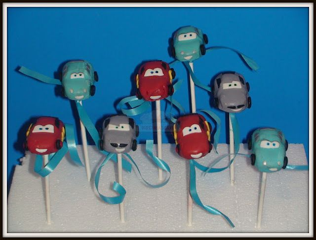 Virginias Cake: Cake Pops Cars, Sally y Mcmissile