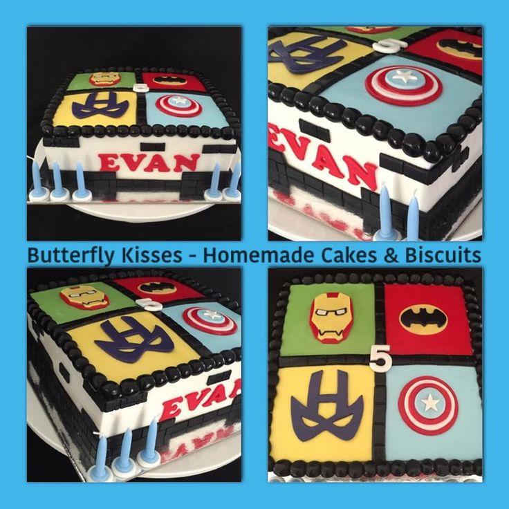 Superhero birthday cake