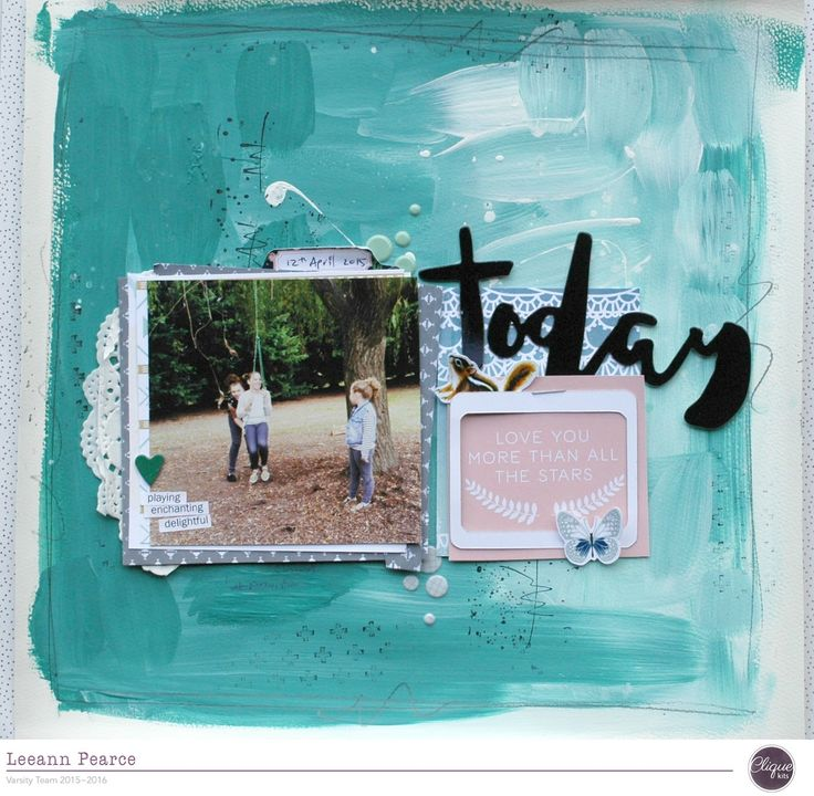 Hello it's Leeann here, and I have a fun painted background page to share with…