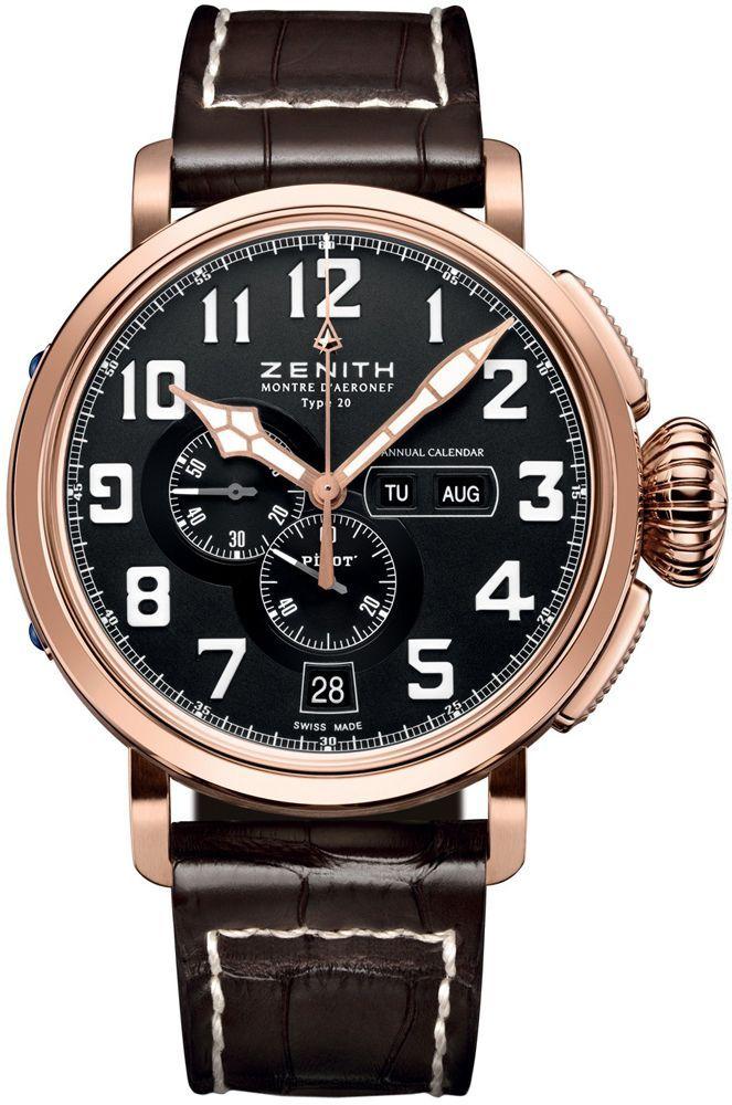 Zenith Pilot Montre d'Aeronef Type 20 Annual Calendar - best mens watches, mens pocket watches, discount mens watches