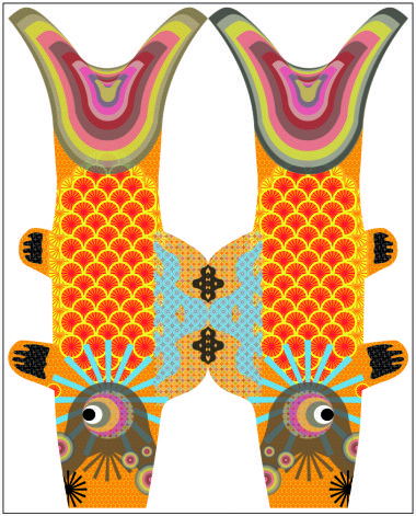 ACTIVITE - Koinobori, signifiant « banderole de carpe » en japonais, sont des manches à air en forme de carpe koï hissées au Japon pour célébrer Tango no sekku (端午の節句?), évènement traditionnel qui est désormais une fête nationale, le Kodomo no hi (jour des enfants).