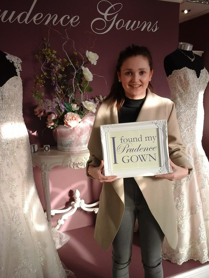Alice found her #promdress for her #prom in our #Plymouth store today. YAY! #DressingYourDreams #PrudenceGowns