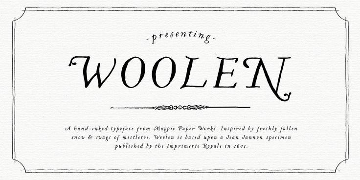 Woolen™ - Webfont & Desktop font « MyFonts