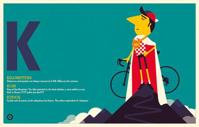 Spencer Wilson - The Modern MAMIL - A Cyclist's A-Z - Kinkajou books Tiphaine-illustration #bike #alphabetbook #velocipede #kilometers #kudos