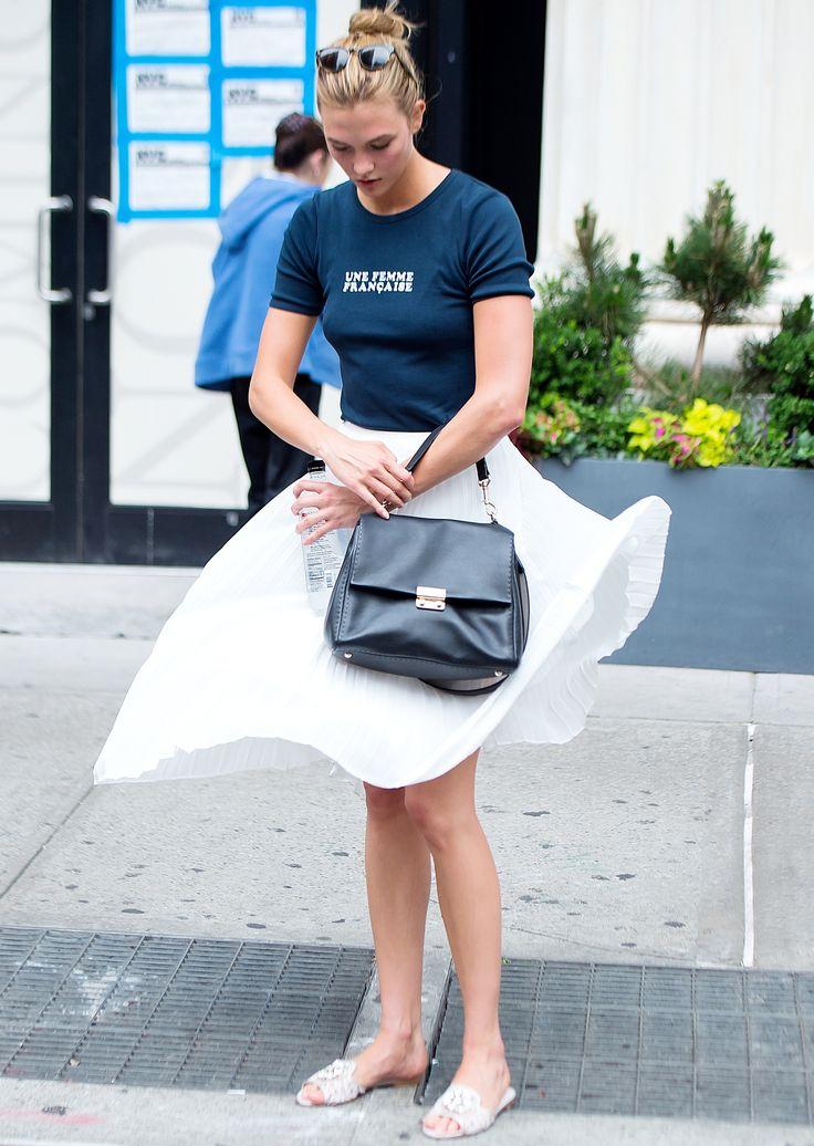 Karlie Kloss Prevents a Major Wardrobe Malfunction à la Marilyn Monroe from InStyle.com