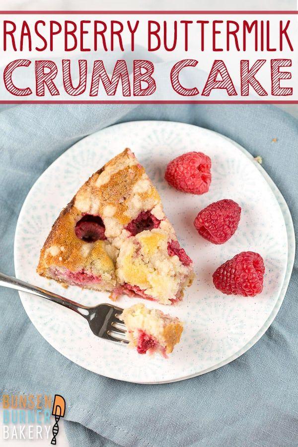 Raspberry Crumb Cake An Easy Buttermilk Coffee Cake Recipe Swirled With Homemade Jam And Topped With Rasp In 2020 Desserts Dessert Recipes Easy Homemade Raspberry Jam