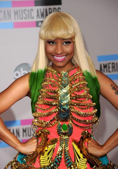 Nicki Minaj Medium Straight Cut with Bangs