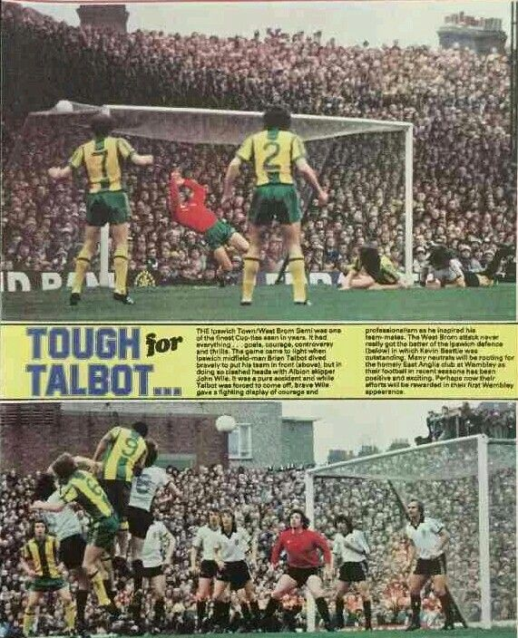 Ipswich Town 3 West Brom 1 in April 1978 at Highbury. Action from the FA Cup Semi Final.