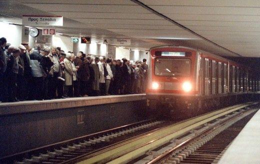 Στιγμιότυπο από τον σταθμό του Μετρό στην πλατεία Συντάγματος. Φωτο: ΑΠΕ/ΜΠΕ
