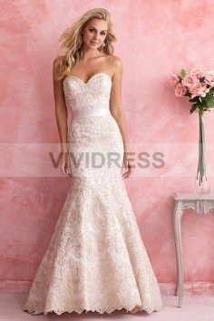 Trumpet/Mermaid Sweetheart Court Train Sleeveless Lace Wedding Dresses with Sash Style 15427110 http://www.vividress.co.uk/lace-wedding-dresses-style-15427110.html