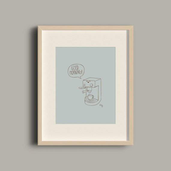 Creative coffee machine talking wall art print / by ATalkingWall