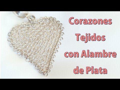 Como Hacer Colgantes con Forma de Corazon en Punto Peruano - YouTube
