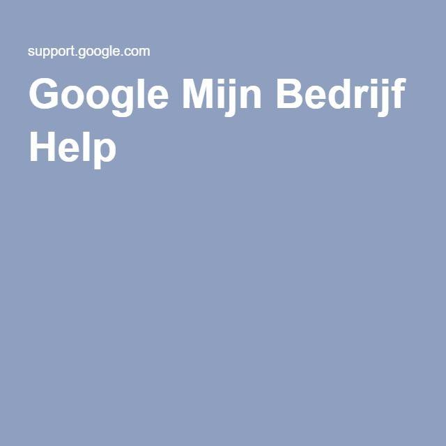 Google Mijn Bedrijf Help