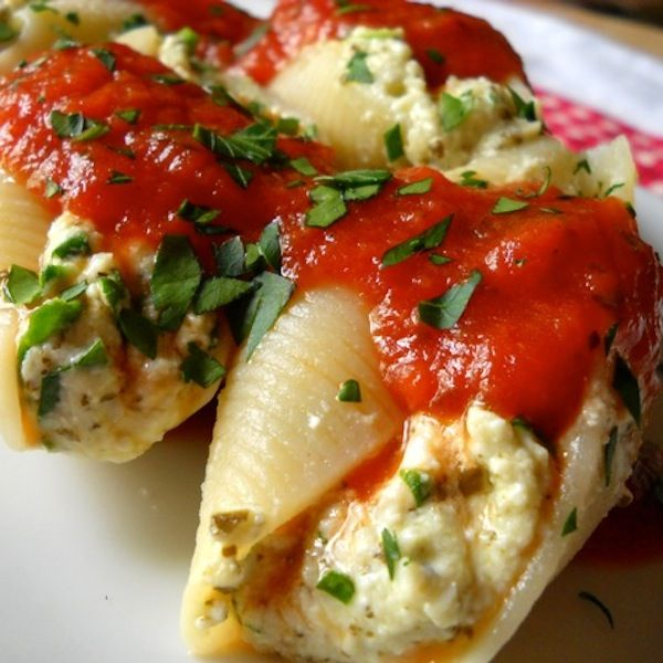 Pesto Stuffed Shells - this is a good one.  The pesto added a little flavor umph to these, and I liked the extra healthy shot of greens too.  Definitely a keeper!