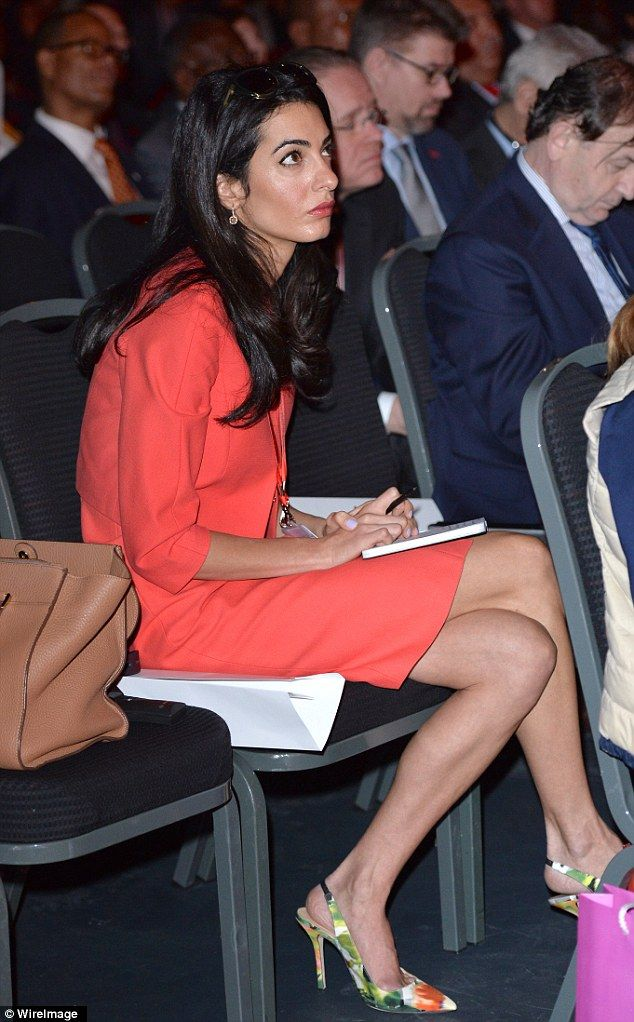Dedicated: #Amal was amongst the many  in attendance at the Global Summit to end  #Sexual Violence in Conflict