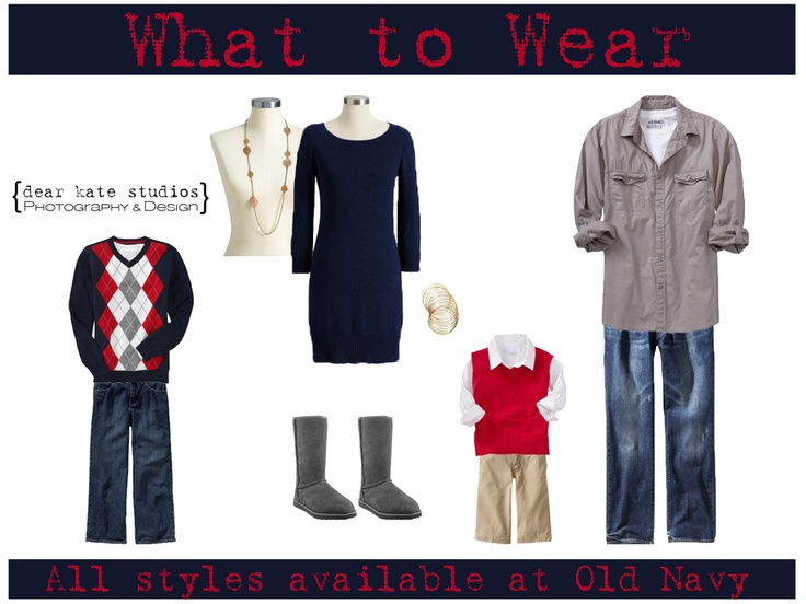 What to Wear for Family Photos Holiday Edition Navy Red and Gray