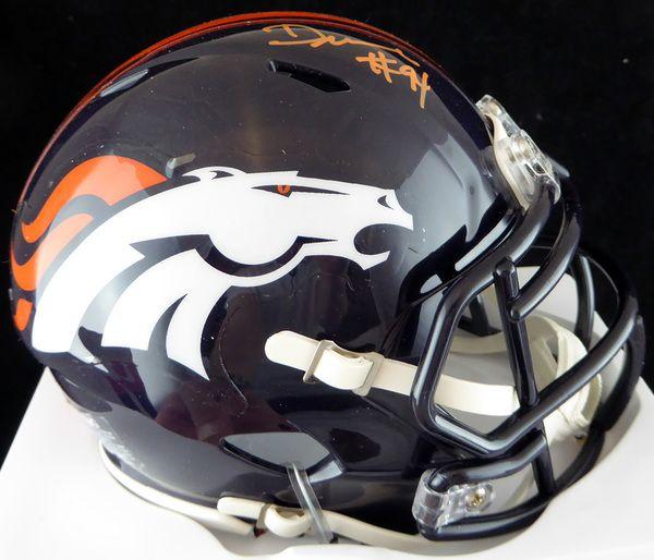DeMarcus Ware Autographed Denver Broncos Mini Helmet PSA/DNA #7A38071