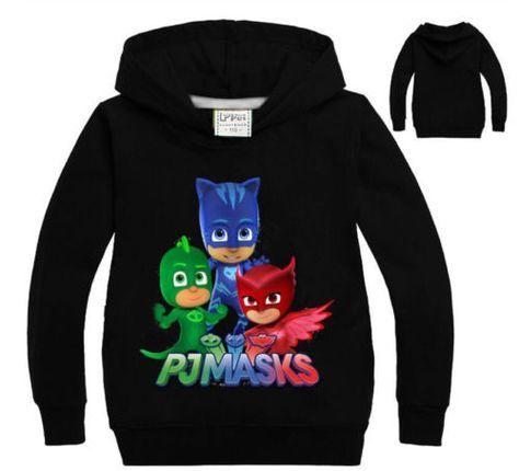 PJ-Masks-Kids-T-shirt-Hoodie-Dress-Catboy-Gekko-Owlette-Boys-Girls-Gift-Lot