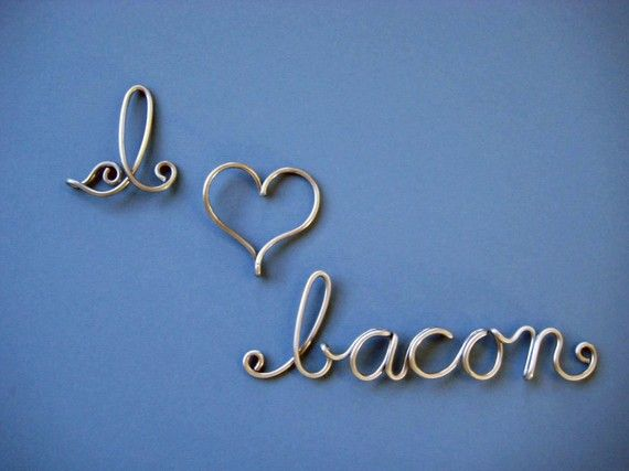 I love BACON metal signs by gaugenyc