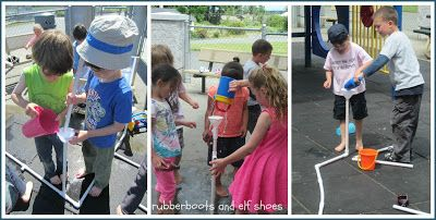 rubberboots and elf shoes: pvc pipes+connectors+water=physics