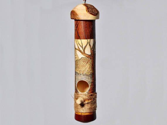 Hummingbird House, Gift for her, bird house, log wood, gift for wife, gift for Mom, gift for friend, stocking stuffer, gift, holiday gift