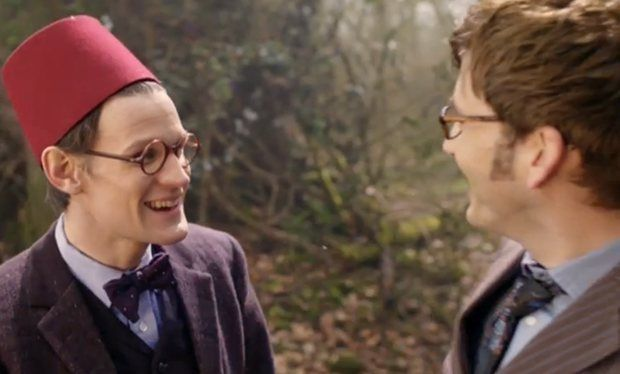 Doctor Who stars David Tennant and Matt Smith team up for first ever joint convention appearance