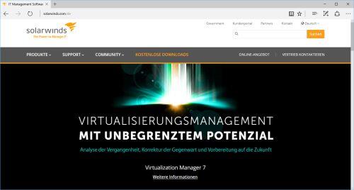 SolarWinds ermöglicht Virtualisierungs-Administratoren die Analyse der Vergangenheit, die Korrektur der Gegenwart und die Vorbereitung auf die Zukunft