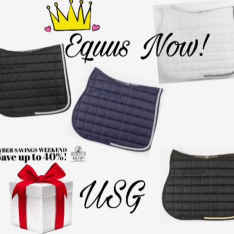 Because a Dressage Queen can't have too many awesome USG Saddle Pads! ✨✨Cyber Sale Ends Tonight! ✨✨ #equusperfectus #klselect #cybermonday #cybersale #dressage #dressagequeen #shopsmall