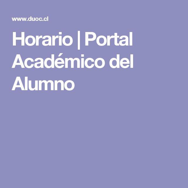 Horario   Portal Académico del Alumno