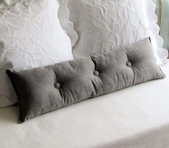 MEDINA GRAY 9x25 Bolster/lumbar pillow available in many of our fabrics
