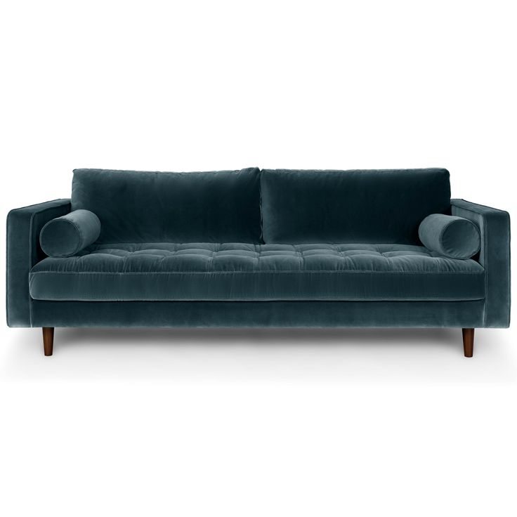 Blue Velvet Tufted Sofa   Upholstered | Article Sven Modern Furniture |  Interiors, Apartments And Living Rooms