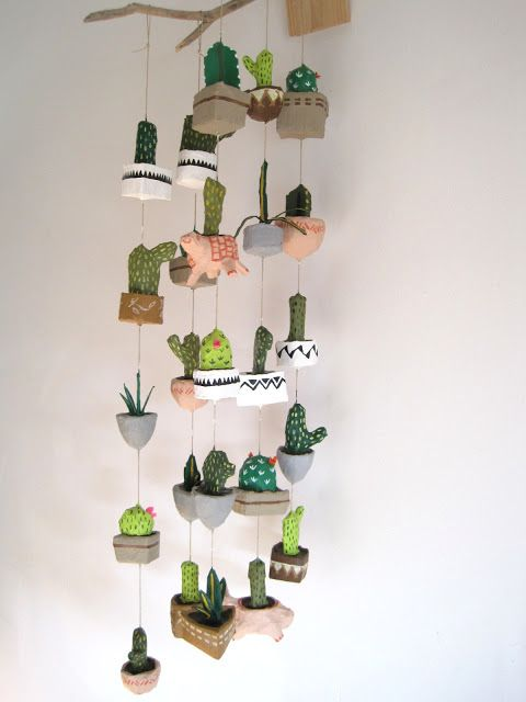 jikits - love love her mobiles! should do a tumblr post on her - with our howdy cactus card XD