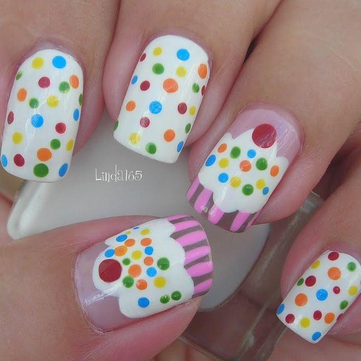Best 25 cupcake nail art ideas on pinterest mermaid nail art nomnom cupcake nail art cupcakes nailart beauty prinsesfo Gallery