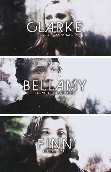 The 100 - Bellamy, Finn and Clarke