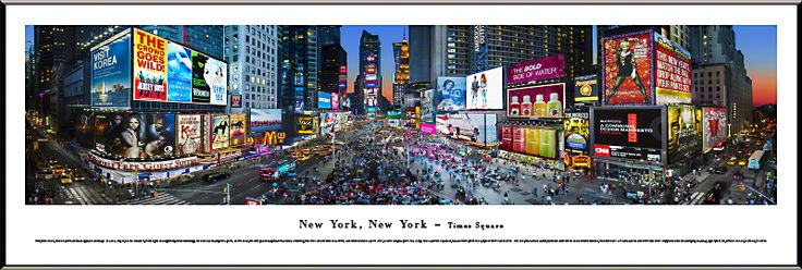 Times Square Panoramic Picture - $99.95