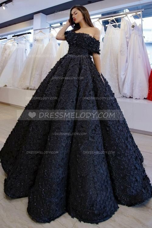 Applique Beading Off Shoulder Short Sleeves Long Solid Ball Gown Evening Dress #dresses #quotes #bts #frases #christmascrafts