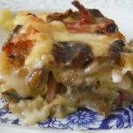 Lasagne Bianche con Funghi Porcini, Speck & Provola