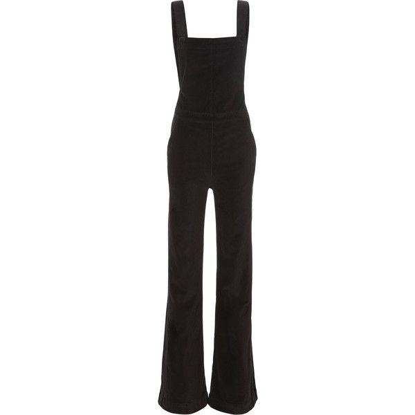 Velveteen Overalls ($345) ❤ liked on Polyvore featuring jumpsuits and grey