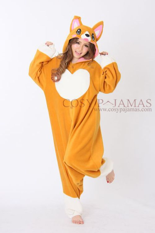 Animal Costumes Cute Corgi Dog Adult Onesie Kigurumi
