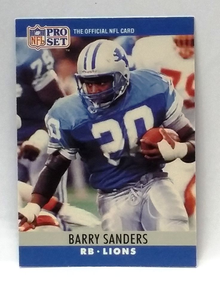 1990 pro set 102 barry sanders rookie card rb lions