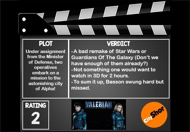 Movie Review - #ValerianAndTheCityOfAThousandPlanets #MovieReview #Hollywood #Entertainment #CityShorBangalore