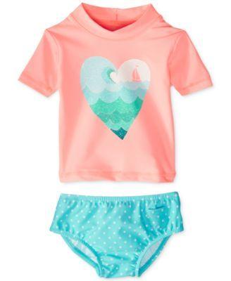 Carter's Baby Girls' 2-Piece Rashguard Swimsuit | macys.com