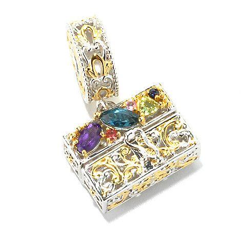 136-035 - Gems en Vogue Multi Gemstone Handbag Drop Charm