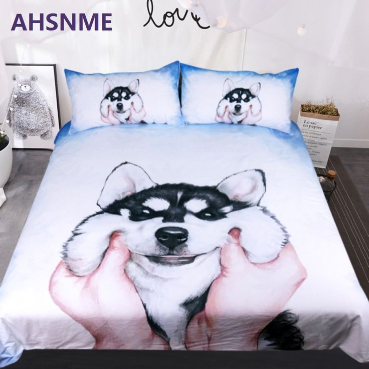 AHSNME 3pcs Bed set Cute 3D Husky Face Pattern Duvet Cover Australian Size King(220x240cm) Queen Double Single Bedding Sets. Yesterday's price: US $65.50 (53.65 EUR). Today's price: US $32.75 (26.94 EUR). Discount: 50%.