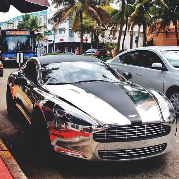 Chrome Aston Martin