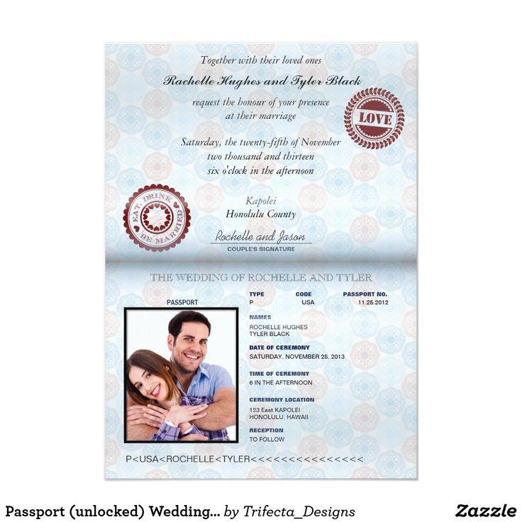 Best 25+ Passport Wedding Invitations Ideas On Pinterest
