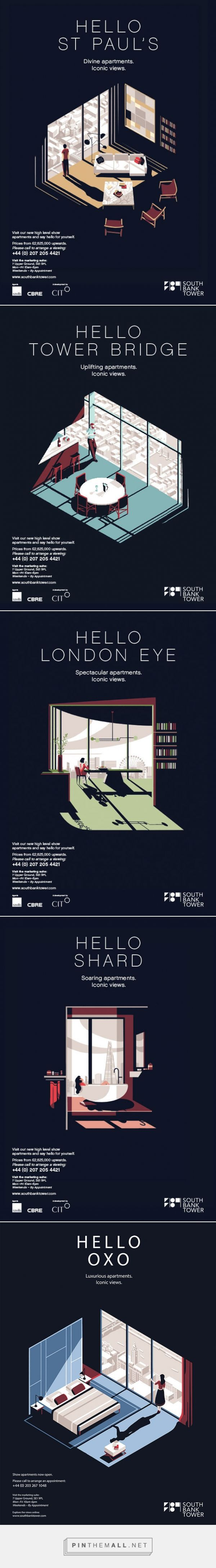 It's Nice That | Tom Haugomat's cinematic posters for luxury apartments in a…