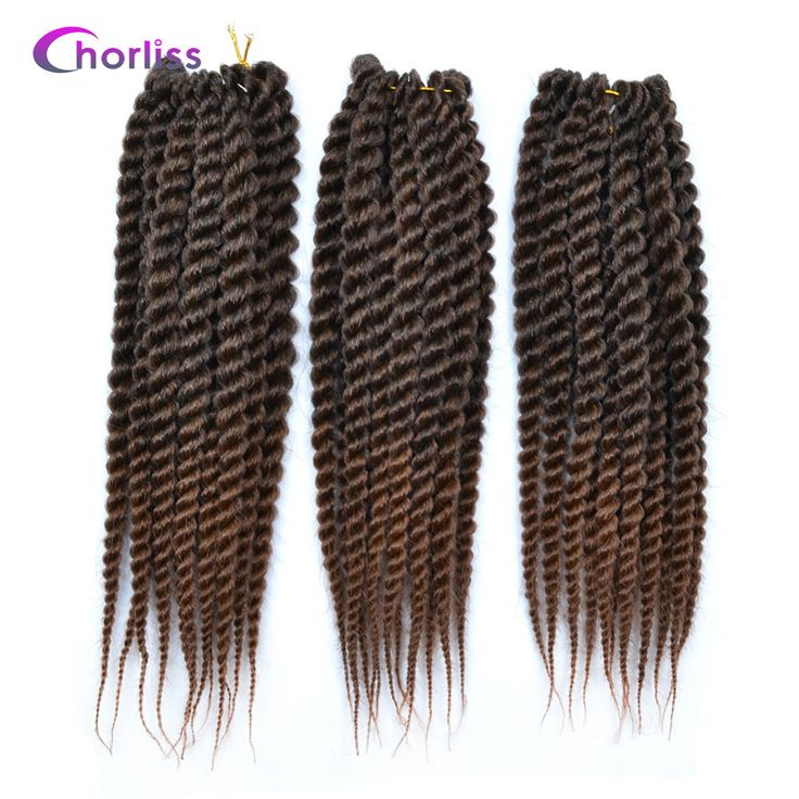 "Chorliss 12""Senegalese Twist Crochet Braids Hair Extension Synthetic Braiding Hair Extension 11Colors With Pure Ombre Color 11pc"