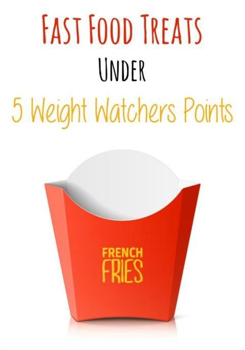 Fast Food Treats Under 5 Weight Watchers Points