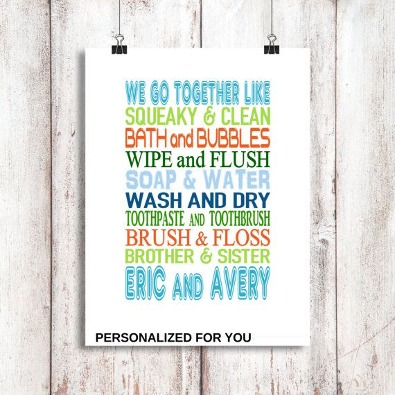brother and sister bathroom wall art shared bathroom kids bathroom decor childrens bathroom